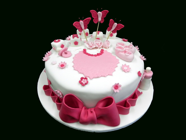 Favori Torte battesimo decorate - Torte battesimo Pasta di Zucchero Roma YU67